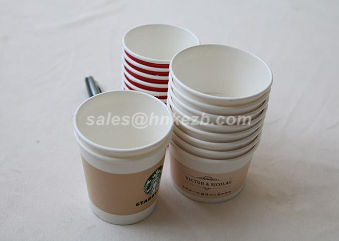 Multi Colored Stripes Dome Paper Ice Cream Cups With Wooden Spoon 8oz
