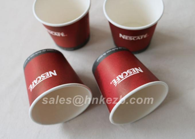265ml PLA Biodegradable Compostable Paper Cups / insulated paper coffee cups