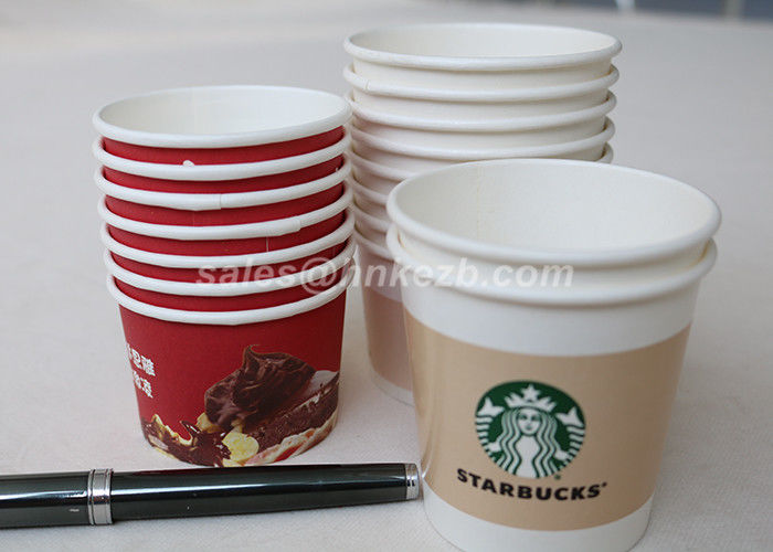New Small Disposable Paper Cups 4oz 115ml / Ice Cream Paper Cups For  NK75