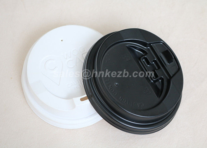 PS Material Disposable Paper Cup Lid , Coffee Cup Covers For Hot Beverage Cup