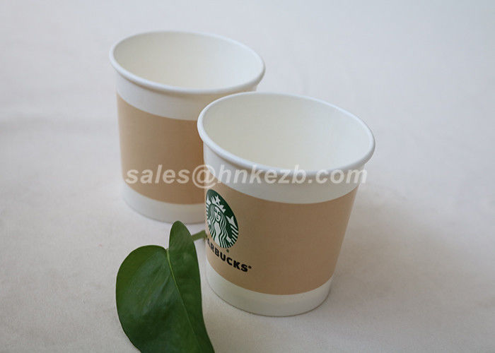 180ml Food Grade Disposable Cold Drink Paper Cups For Frozen Yogurt / Ice Cream