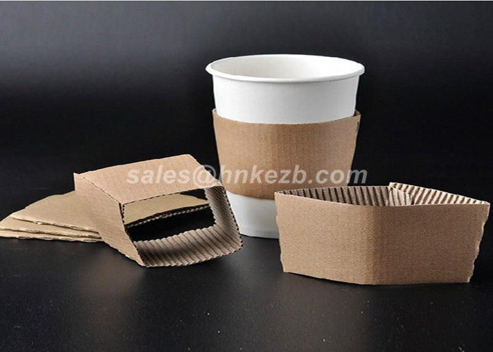Disposable Paper Cup Accessories Cardboard Paper Sleeves For