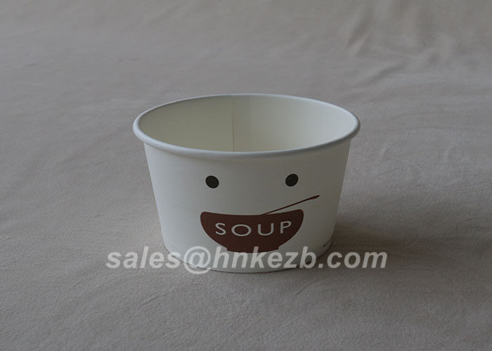 Custom Biodegradable Frozen Ice Cream Paper Cups 12oz Paper Cups / Bowls