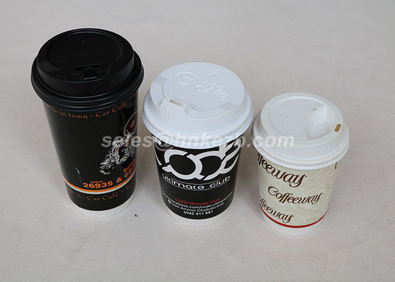 16oz Disposable Coffee Cups / To Go Coffee Cups With Lids Double Wall