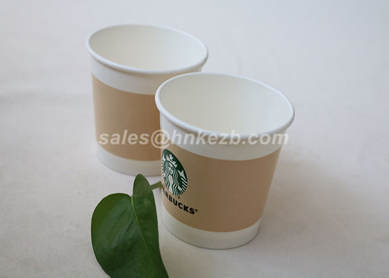 Custom Printed Disposable Ice Cream Cups , Paper Ice Cream Bowls With Lids