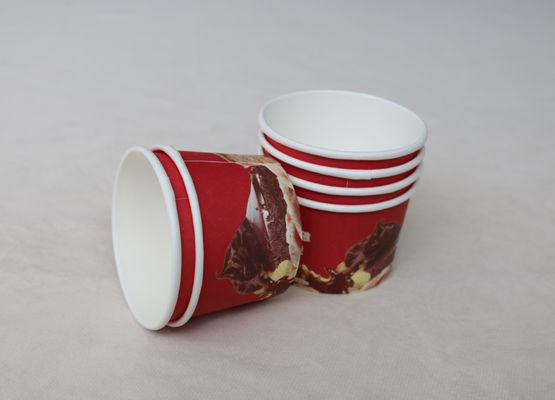 Custom printed disposable ice cream paper cup double PE paper cup for ice cream