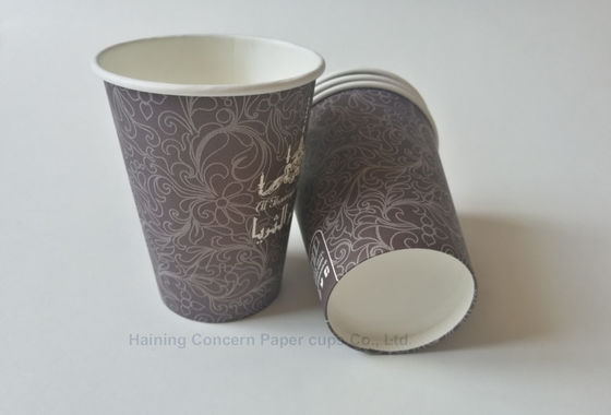 12oz 380ml customer printed paper cup for hot drinks with various colours
